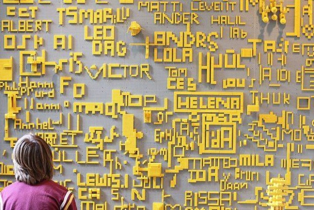 Legomuur Louisana Museum